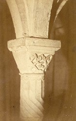 AD 1121, Capitals In The Crypt (The Carving Unfinished And Later Than The Construction)